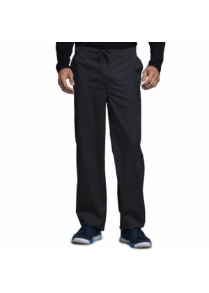 Muške hlače na vezanje širokih nogavica - 1022-BLKV