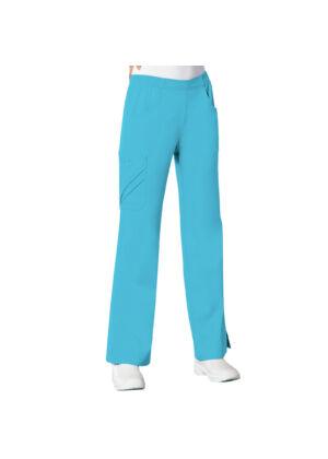 Vrećaste hlače srednje visokog struka - 1067-BLUV