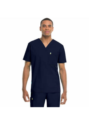 Muška majica s V-izrezom - 16600A-NVCH