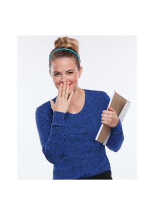 Majica dugih rukava s okruglim izrezom - 20801-HORL