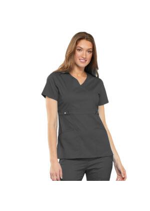 Majica s preklopljenim V-izrezom - 21701-PEWV