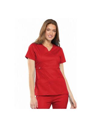 Majica s preklopljenim V-izrezom - 21701-REDV