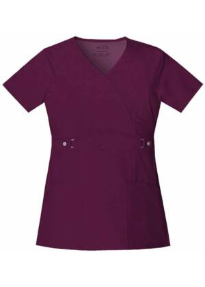 Majica s preklopljenim V-izrezom - 21701-WINV