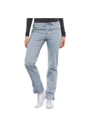 Srednje visoke Slim hlače s vezicom - 4203-BLKW