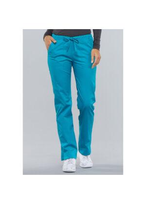 Srednje visoke Slim hlače s vezicom - 4203-TLBW