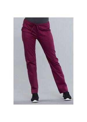 Srednje visoke Slim hlače s vezicom - 4203-WINW