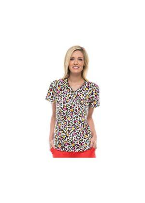 "Majica s V izrezom""Wild Cheetah"" - 46612A-WILH"