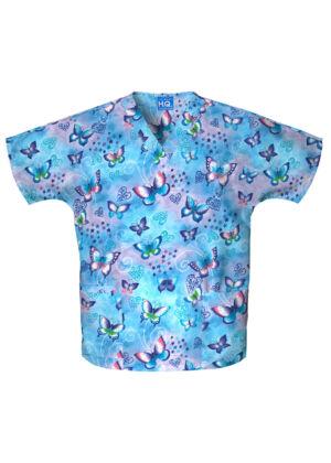 Majica s V-izrezom - 4700-FLNT