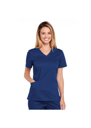 Majica s V-izrezom - 4710-NAVW