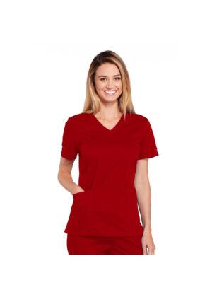 Majica s V-izrezom - 4710-REDW