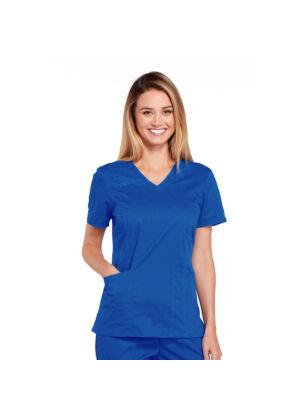 Majica s V-izrezom - 4710-ROYW