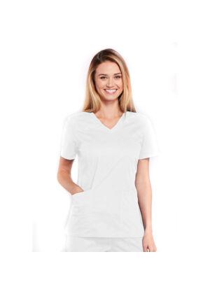 Majica s V-izrezom - 4710-WHTW