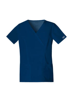 Majica s prešivenim preklopom - 4728-NAVW