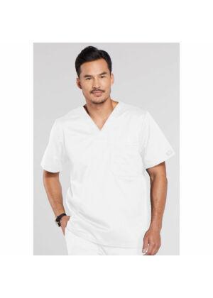 Muška majica s V-izrezom - 4743-WHTW