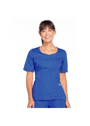 Majica s V-izrezom - 4746-CIEW