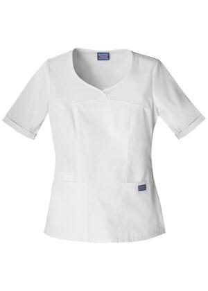 Majica s V-izrezom - 4746-WHTW
