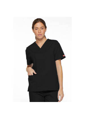 Majica s V-izrezom - 86706-BLWZ