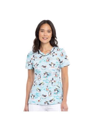 Majica s V-izrezom - CK646-ARPL