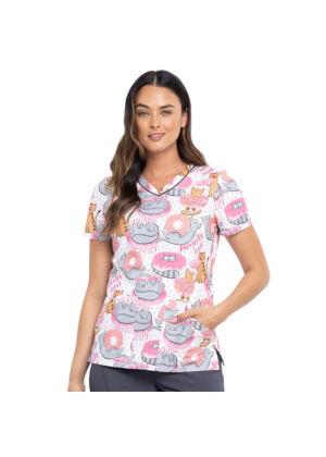 Majica s V-izrezom - CK646-TRMW