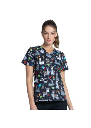 Majica s V-izrezom - CK651-LAMV