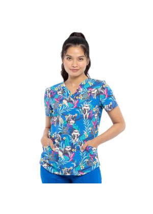 Majica s V-izrezom - CK652-BTML