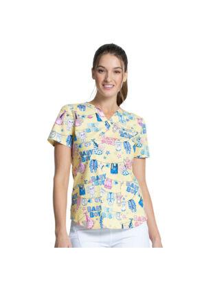 Majica s V-izrezom - CK652-HEYB