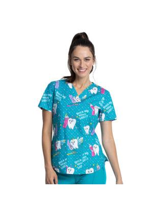 Majica s V-izrezom - CK652-MQUZ