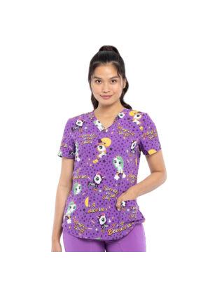Majica s V-izrezom - CK662-BOIN