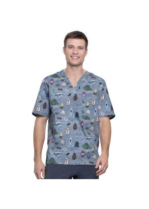 Muška majica s V-izrezom - CK675-ODAV