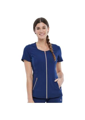 Majica s patentnim zatvaračem, plava - CK915-NAV
