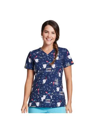 Majica s V-izrezom - DK616-FLAE
