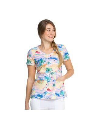 Majica s V-izrezom - DK700-CALD