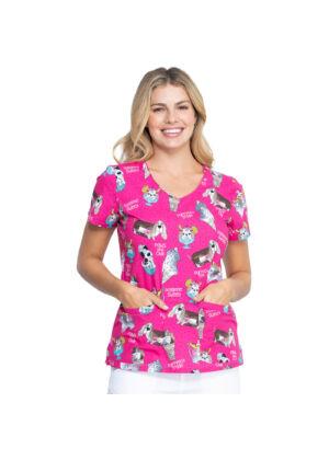 Majica s V-izrezom - DK700-PYKY