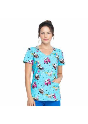 Majica s V-izrezom - DK700-HELS