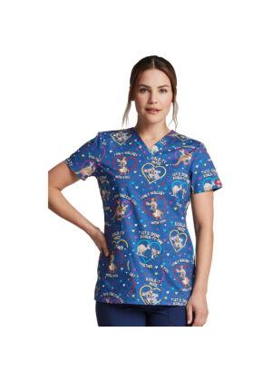 Majica s V-izrezom - DK704-RTFU