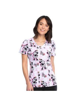 Majica s V-izrezom - TF641-MNTD