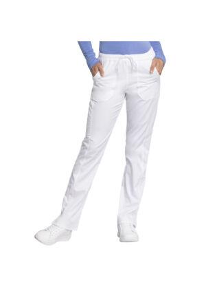 Srednje duboke hlače ravnog kroja s vezicom - WW235AB-WHT