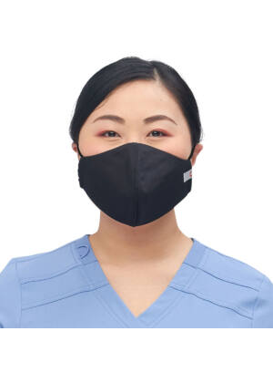 Višekratna periva maska za lice, crna, M/L, 1kom