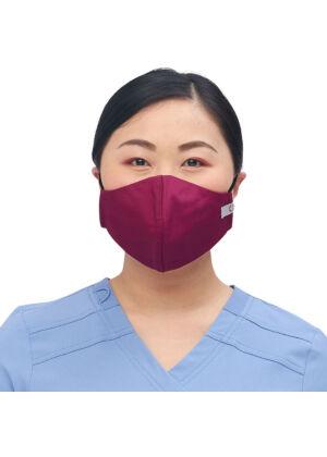 Višekratna periva maska za lice, bordo, M/L, 1kom