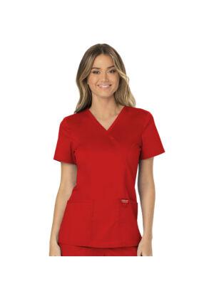 Majica s prešivenim preklopom - WW610-RED