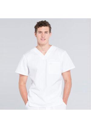 Muška majica s V izrezom - WW675-WHT
