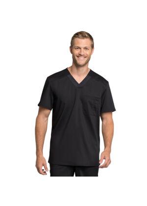Muška majica s V-izrezom - WW755AB-BLK