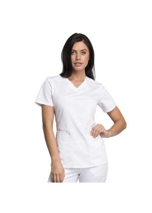 Majica s V-izrezom - WW770AB-WHT