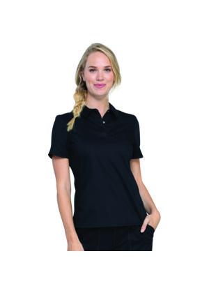 Polo majica na kopčanje, crna - WW698-BLK