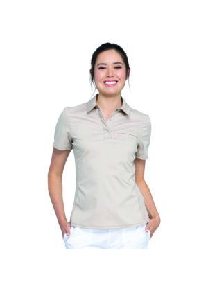 Polo majica na kopčanje, kaki - WW698-KAK