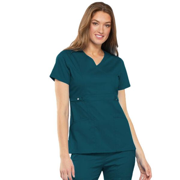 Majica s preklopljenim V-izrezom - 21701-CARV