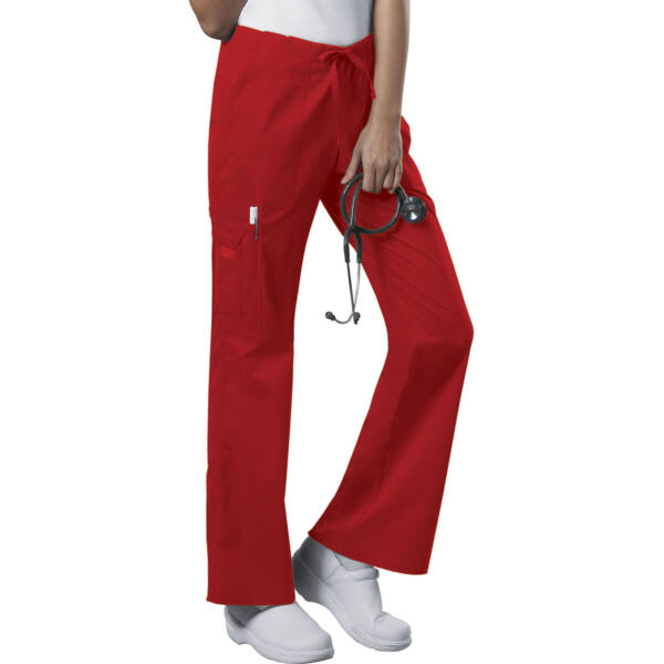 Vrećaste hlače srednje visokog struka na vezanje - 4044-REDW