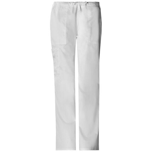 Vrećaste hlače srednje visokog struka na vezanje - 4044-WHTW