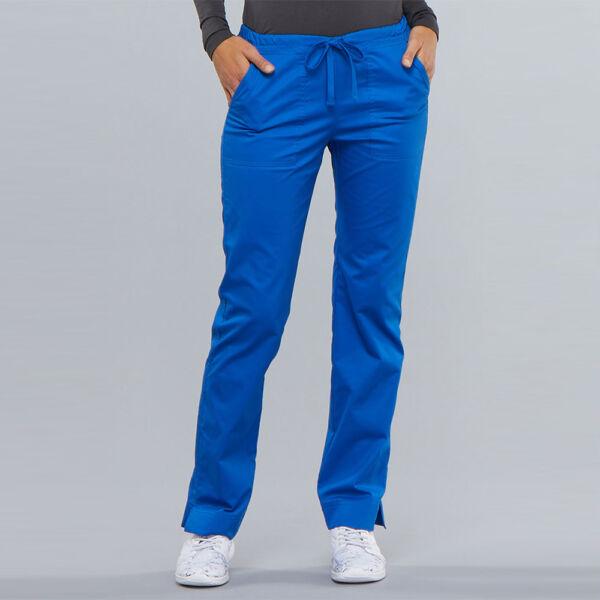 Srednje visoke Slim hlače s vezicom - 4203-ROYW