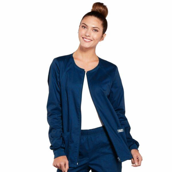 Topla jakna s patentnim zatvaračem - 4315-NAVW